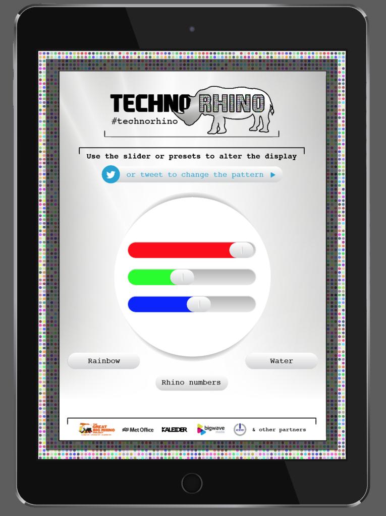 iPad slider page